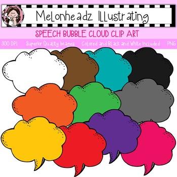 Melonheadz: Speech Bubble clip art - Cloud - Single Image