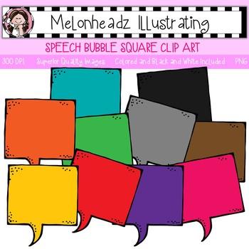 Melonheadz: Speech Bubble clip art - Square - Single Image