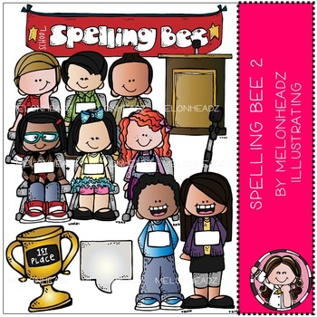 Spelling Bee clip art - Set 2 - COMBO PACK - by Melonheadz