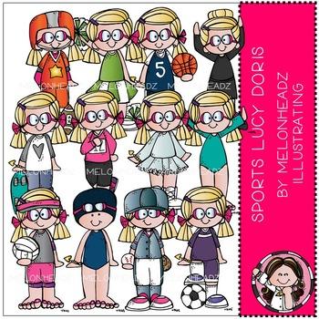 Sports clip art - Lucy Doris - COMBO PACK - by Melonheadz
