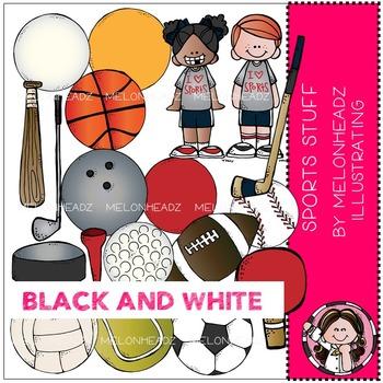 Melonheadz: Sports Stuff BLACK AND WHITE