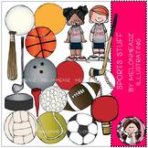 Sports Stuff clip art - COMBO PACK - by Melonheadz