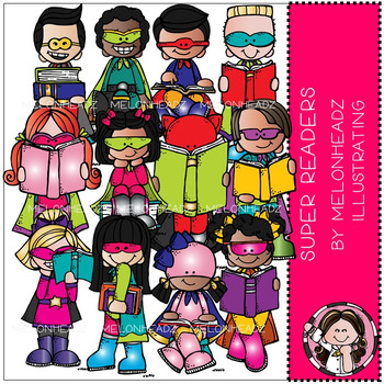 Super Readers clip art - Combo Pack - by Melonheadz