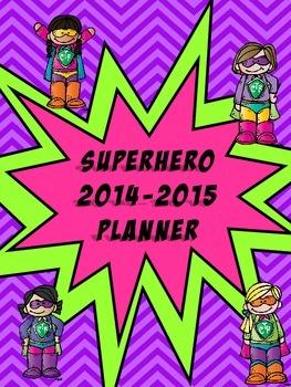 Melonheadz Superhero Calendar Planner Notes 2014 -2015