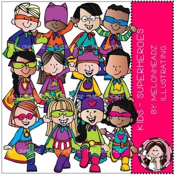 Melonheadz: Superhero clip art - Kids