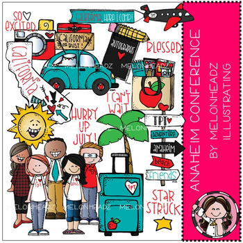 TPT Anaheim Conference clip art - COMBO PACK - by Melonheadz