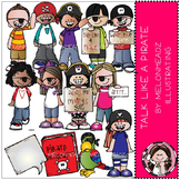 Talk Like a Pirate clip art - COMBO PACK - by Melonheadz