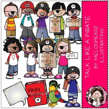 Melonheadz: Talk Like a Pirate clip art - COMBO PACK