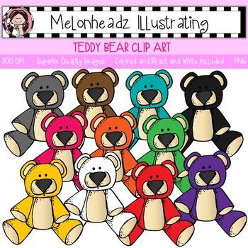 Melonheadz: Teddy Bear clip  art - Single Image