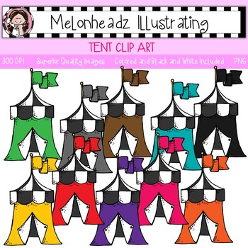 Tent clip art - Single Image - by Melonheadz