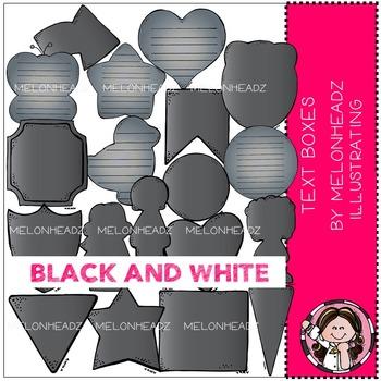 Melonheadz: Text Boxes BLACK AND WHITE