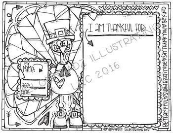 Melonheadz: Thanksgiving Coloring Page Freebie 2016