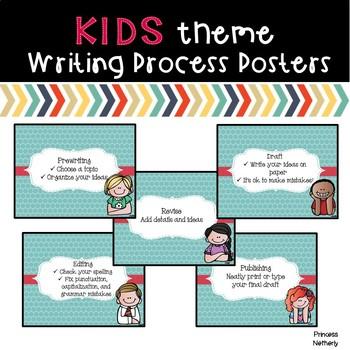 Writing Process Posters-KidsTheme