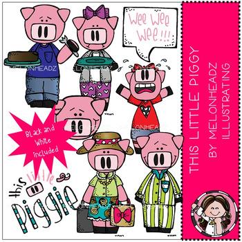 Melonheadz: This Little Piggy clip art - COMBO PACK
