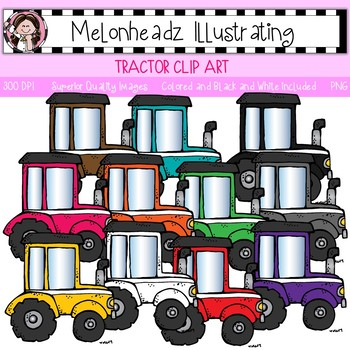 Melonheadz: Tractor clip art - Single Image