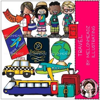 Melonheadz: Travel clip art - Combo Pack