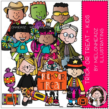 Trick or Treat Clipart. BLACK and WHITE and COLOR. Children of   Etsy