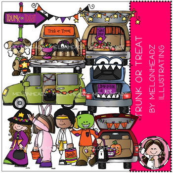 Trunk or Treat clip art - Combo Pack - by Melonheadz