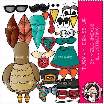 Turkey Dress UP clip art - COMBO PACK - by Melonheadz
