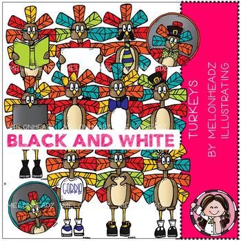 Melonheadz: Turkey clip art - BLACK AND WHITE
