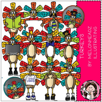 Melonheadz: Turkeys clip art - COMBO PACK
