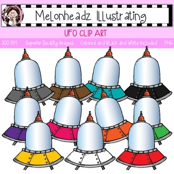 Melonheadz: UFO clip art - Single Image