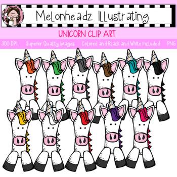 Melonheadz: Unicorn clip art - Single Image