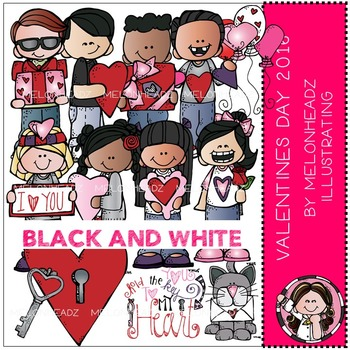 Melonheadz: Valentine's Day 2016 BLACK AND WHITE