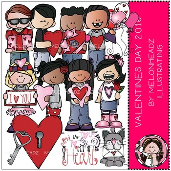 Valentine's Day clip art 2016 - COMBO PACK - by Melonheadz
