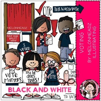 Melonheadz: Voting BLACK AND WHITE