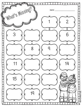 what 39 s missing alphabet numbers and pattern worksheets by worksheetjunkie. Black Bedroom Furniture Sets. Home Design Ideas