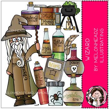Melonheadz: Wizard clip art - COMBO PACK