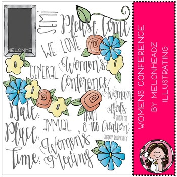 Women's Conference clip art - COMBO PACK - by Melonheadz