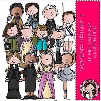 Women's History clip art - Set 3 - COMBO PACK - by Melonheadz