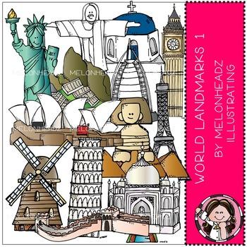 World Landmarks clip art - Set 1 - by Melonheadz