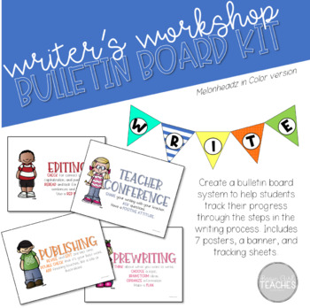 Melonheadz in Color Writer's Workshop Bulletin Board Kit