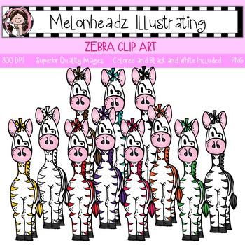 Melonheadz: Zebra clip art - Single Image