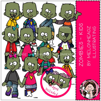 Melonheadz: Zombies clip art - Kids - Combo Pack
