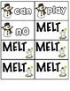 Melt! High Frequency word K Snowman game Reading Street K