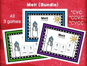 Melt {The Bundle} CVC, CCVC, CVCC games