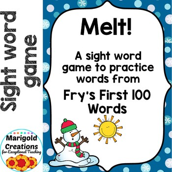 Melt!: a NO PREP Game for Fry's First 100 Words
