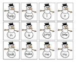 Melt a Snowman Sight Word Game