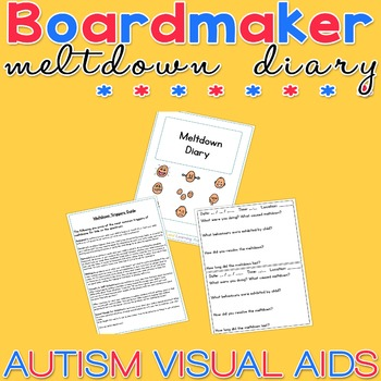 Meltdown Diary - Boardmaker Visual Aids for Autism SPED