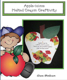 Melted Crayon Apple Craft