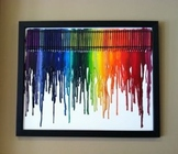 Melted Crayon Art - Adapted Book