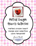 Melted Crayon Hearts Valentine recipe and printable