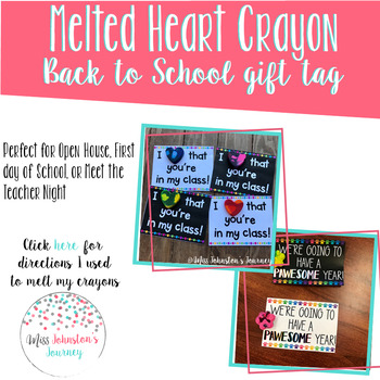 Melted Heart Crayon Gift Tags Freebie