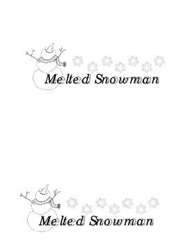 Melted Snowman Label *Freebie*