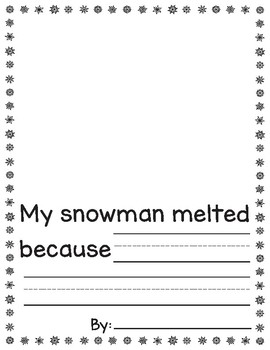 Melted Snowman Prompt