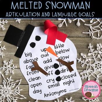 Melted Snowman Speech Therapy Craft {articulation craftivity}
